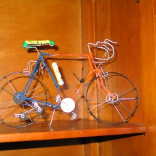 Bicicleta carreras reciclaje