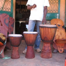 Djembes africanos