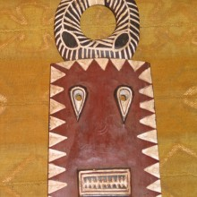 Máscara Bedu marrón pequeña