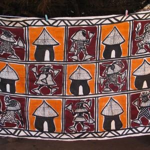 """Tela de korogo """"Mascaras africanas"""""""