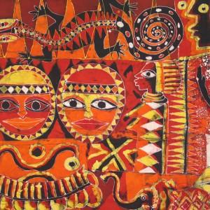 """Batik """" alegoria a los ancestros"""""""