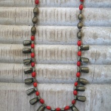 Collar Telsum plata antigua