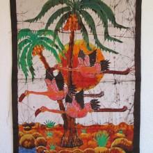 Batik  Flamencos en Africa