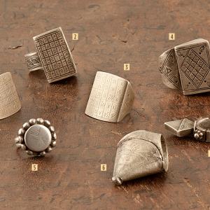 Anillos tuareg de plata antigua