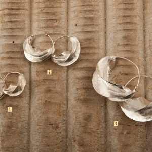 Pendientes peul-fulani de plata