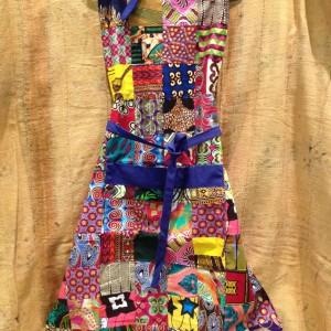 Delantal patchwork telas africanas