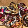4 Pulseras de telas africanas