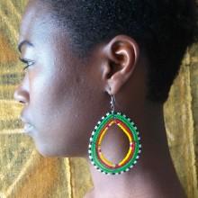 Pendientes masai verdes
