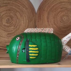 Marioneta pez Bozo verde