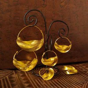 Pendientes Fulani dorados