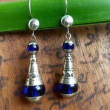 Pendientes tuareg cristal azul