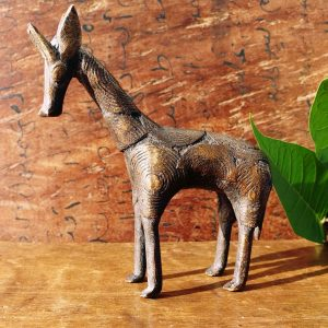 Jirafa bronce cera perdida