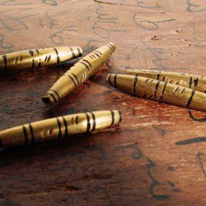Abalorio tubo bronce Mali