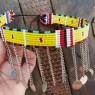 Collar-gargantilla Masai amarilla