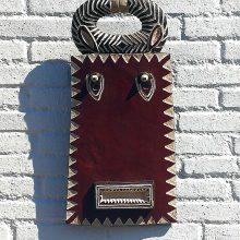 Máscara Baulé Goli rectangular