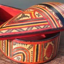 Caja Tuareg cuero Gao
