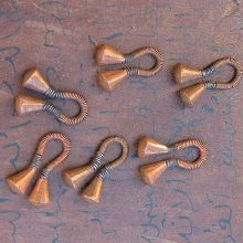 Pendiente Masai dilatador cobre