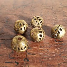 Abalorios bronce Ghana. Bola pulida