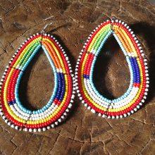 Pendientes Masai multicolor