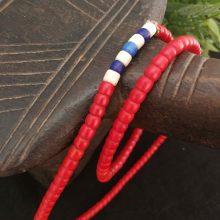 Collar abalorios Turkana rojo
