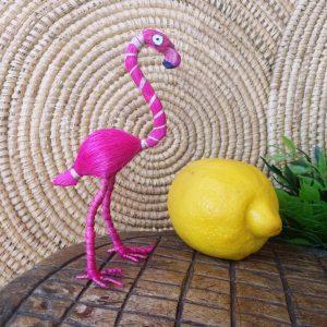 Flamenco rosa fibra banana