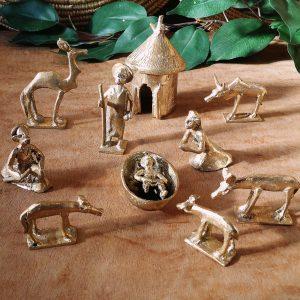 Belén africano bronce
