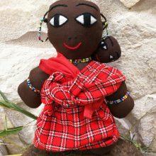 Muñeca africana tela Masai