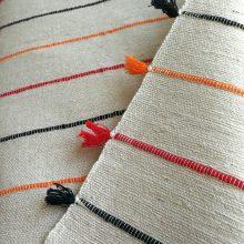 Colcha artesanal Bereber crudo-color
