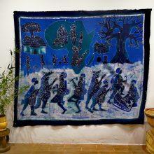 Batik Africa azul grande