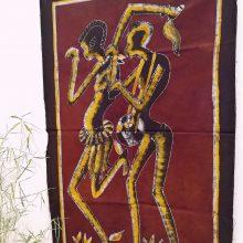 Batik africano granate