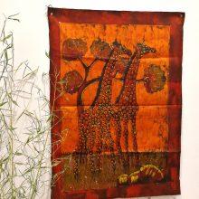 Batik africano jirafas