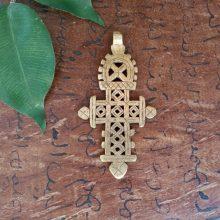 Cruz Etíope dorada grande