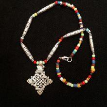 Collar Cruz etíope 4 puntas