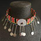 Gargantilla Masai antigua Botón